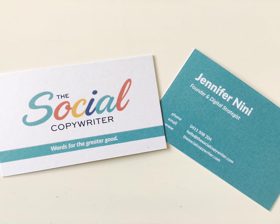 The social copywriter business cards regional training services the social copywriter business cards regional training services queensland rto no40702 reheart Image collections